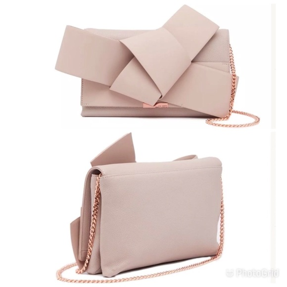 22e313cca Ted Baker London Bags | Ted Baker 349 Knotted Bow Leather Clutch ...